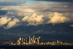 Downtown Los Angeles (johnwilliamsphd) Tags: city sky copyright sunlight mountains skyline clouds john landscape la losangeles downtown day williams cloudy c scape palosverdes city1  300000 5photosaday williams john johncwilliams monthlythemegroupapr08 projectweather johnwilliamsphd phd