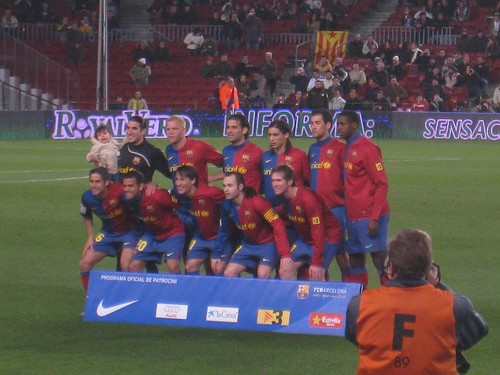 FC Barcelona's starting team