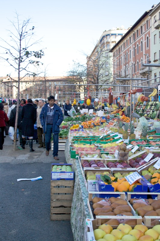Street market in Milan