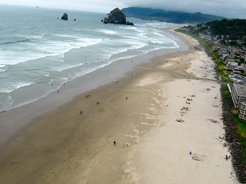 Haystack Rock from a kite
