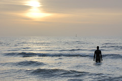 Another place (wlkrm) Tags: nikond70 antonygormley anotherplace crosbybeach