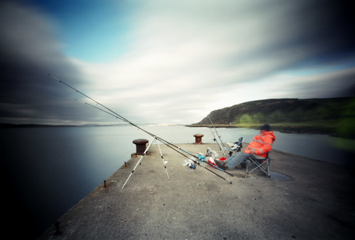Pinhole image fishermen on the pier 05Feb09