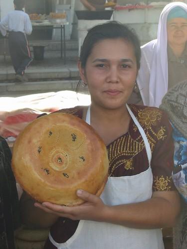 Typisch Samarkandboor dmet sesamzaadjespatroon