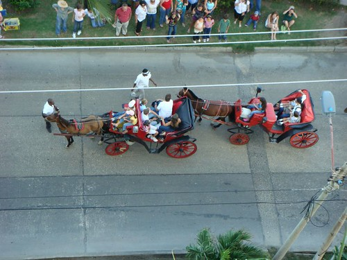 Cabalgata in Cartagena.