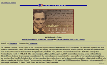Lincoln Papers at the LOC cp sm