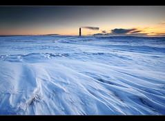 Arctic Winter (orvaratli) Tags: travel blue winter snow cold landscape frozen iceland wind arctic 1022mm icelandic lighthosue arcticphoto örvaratli orvaratli