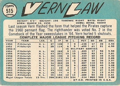 Vern Law (back) by you.