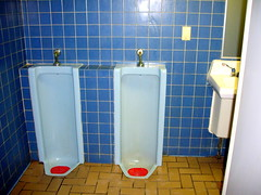 Friday Jan.30Green Bay Wi.Greyhound Bus Terminal (NOT SO FAR TRUCKER) Tags: greyhound bathroom head urinals greenbaywi
