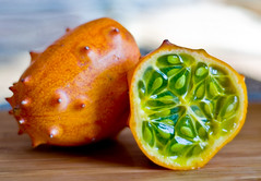 Devil Fruit (Leo Druker) Tags: orange fruit juice delicious exotic melon prickly horned hornedmelon flickrsbest
