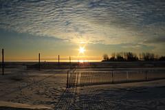 Sunrise (kenyaya) Tags: morning winter sun lake toronto ontario canada sunrise canon rebel xs lakeontario 1000d