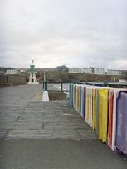 Fishboxes on Port Erin Harbour (Isle of Man Queenie Festival) Tags: harbour colourful isleofman manx porterin fishbox