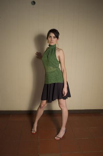vestido: acituna charleston