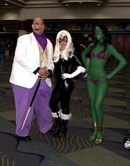 Kingpin, Black Cat, She-Hulk (sciencensorcery) Tags: blackcat comics cosplay scifi conventions fx marvel kingpin shehulk fx09