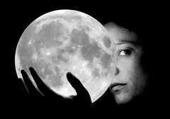 There is no dark side... (Breff) Tags: portrait blackandwhite woman moon girl beautiful lune globe pretty poetry luna sphere lunar copernicus eecummings seaofclouds apollo11 seaoftranquility explored seaofserenity seaofrains seaoffertility oceanofstorms seaofcold whoknowsifthemoonsaballoon