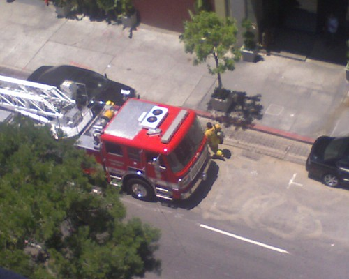 @LAFD heading into the Hellman Bldg