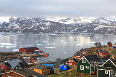 The Village of Tasiilaq Greenland (christine zenino) Tags: marina europe village arctic greenland inuit 1000views grnland dogsled grnland airgreenland groenland groenlandia 1000plusviews angmassalik tasiilaq grnland ammasalik  angmagsallik mygearandme hotelangmagsallikview tasiilaqgreenlandtravelguide greenlandtravelguide villageoftasiilaq greenlandichuskypuppy inuitvillage
