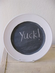 Not quite right plate chalkboard