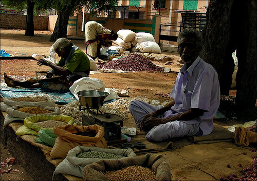 A scene from weekly market