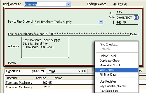 for cash basis taxpayers voiding prior year checks can cost time
