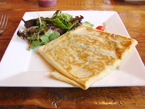 Cheesy Pesto Crêpe from the Skinny Pancake