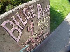 "RR's phantom sign ""Bilge Pump Balm (25 Cents)"""