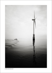 Morning Mist (Ian Bramham) Tags: bw photography photo nikon marine offshore fineart generator wildcat windfarm d40 ianbramham