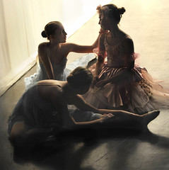 three ballerinas (Rick Elkins) Tags: ballet woman girl dance costume ballerina friendship rehearsal candid dancer practice artlibre aplusphoto artlibres