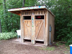 The VIP outhouse at RockyGrass 2009