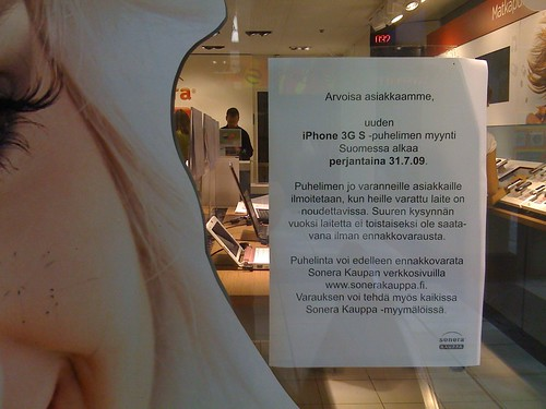 (No) iPhone 3GS at Sonera