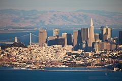 San Francisco, California (ezeiza) Tags: sanfrancisco california county bridge skyline bay suspension sca trail baybridge headlands marincounty suspensionbridge marinheadlands goldengatenationalrecreationarea diablorange scatrail