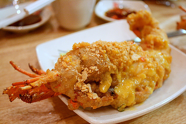 My portion of the Golden Sand Lobster with Bean Crust - worth S$20!