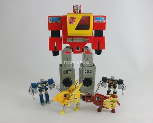 Transformers Blaster con casetes G1