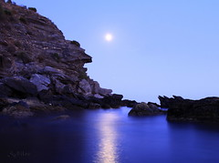 Blue Moon (S@ilor) Tags: blue espaa costa moon sol beach del spain mediterranean searchthebest south playa explore granada tropical andalusia andalusien almucar bluemoon mywinners naturewatcher silor blueblueblueblueblueeverything