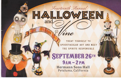 Halloween & Vine Show postcard 2009