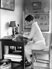 A writer writes. Photo circa 1920, courtesy Cornell University Library