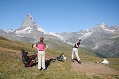 hole 6 / par 3 (Toni_V) Tags: alps nature golf landscape schweiz switzerland suisse peak zermatt matterhorn alpen svizzera wallis valais cervin d300 sigma1020mm cervino riffelalp dsc1491 toniv hörnlihütte matterhorneaglecup