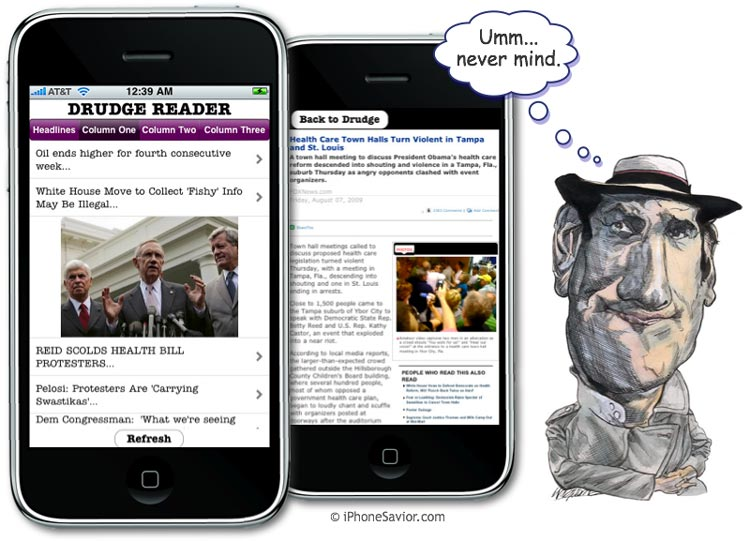 iDrudge iPhone News App