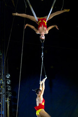 Hair Hang (elphabafreak) Tags: by hair ouch suspension circus her hanging hang forca capilar zophang