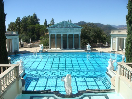 The outdoor pool at Hearst Castle
