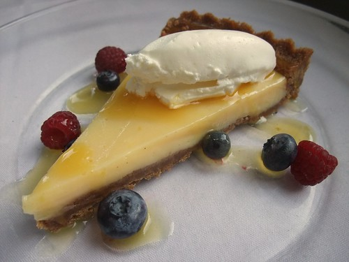 Lemon Gingersnap Tart at G. Michael's