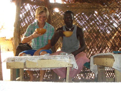 Millet brew in Ouagadougou with random friend...
