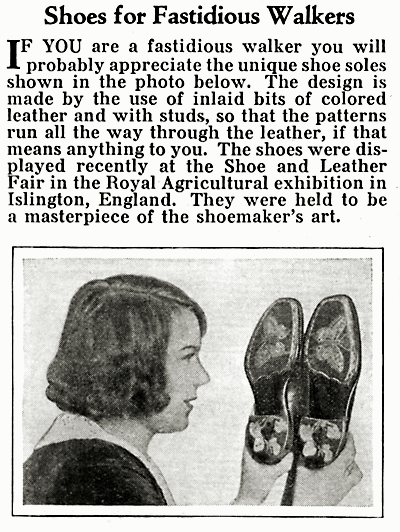 Shoes for Fastidious Walkers _Modern Mechanix  Jan, 1933