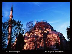 TURKEY (BoazImages) Tags: world travel blue winter sky church beauty turkey aya europe view minaret istanbul mosque tourist skys sophia attraction destinations neareast boazimages