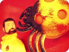 Red (8 Skeins of Danger) Tags: red yellow gijoe spider adventureteam landadventurer squishyarachnid