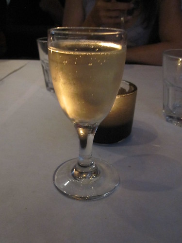 Moscato D'asti for dessert at Macaroni