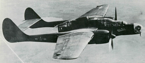 Warbird picture - Northrop P-61 Black Widow,radar dish visible