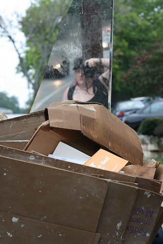 self portrait in trash