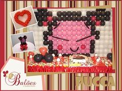 Painel da Pucca em Balões (Balões Criativos - Joinville) Tags: pucca paineldebalõesdecoraçãocomjoinville