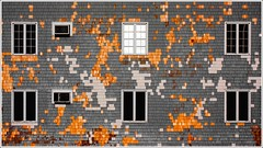 Pixelated (Tailer Ransom) Tags: street wood light abstract building window colors wall clouds canon concrete island eos rebel nikon colorful shingles greenwich east 7d minimalism rhode 90 rule depth ransom xsi thirds williamscollege ruleofthirds lockwood tailer ministract tailerransom thewallinfall byjawdoc originalupload19oct09