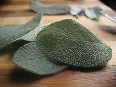Add sage leaves